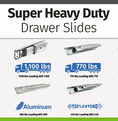Button - Super Heavy Duty Drawer Slides-2