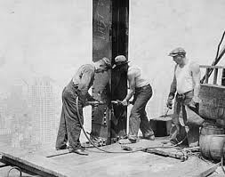 Men Working Vintage Photo